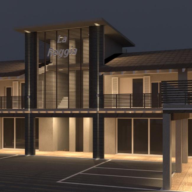 Impianto elettrico per complesso residenziale e commerciale